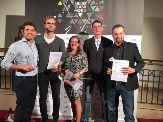 Die Gewinner von antenne 1: Tobias Gebhard, Daniel Behringer, Ulrike Kneisel, Carsten Allmers, Andreas Schönweitz (v. links)