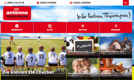ANTENNE THÜRINGEN-Homepage (Bild: Screenshot)