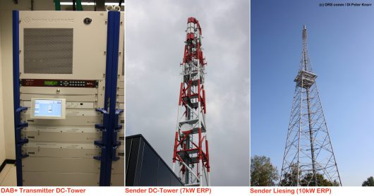 Digitalradio: DAB Sender am DC Tower und Liesing (Bild: RTR GmbH)