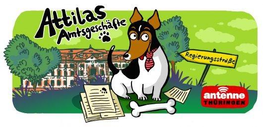 """Attilas Amtsgeschäfte"". Illustration: Olivia Vieweg"