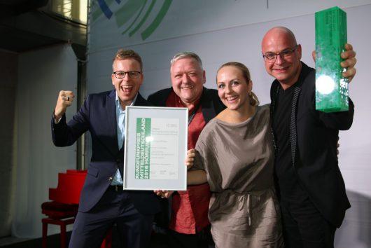 v.l. Henry Nowak, Max Reeg, Henriette Fee Grützner, Steffen Lukas (Alle RADIO PSR)