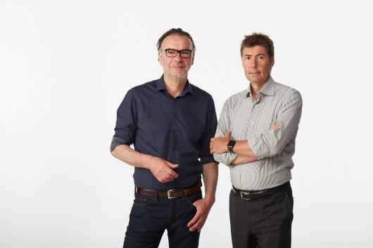 Life Radio Programmchef Steffen Schambach mit GF Christian Stögmüller (Bild: ©LifeRadio/Wimmer)
