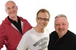 Das Team hinter den Sachsensongs: Steffen Lukas, Henry Nowak und Maximilian Reeg (Bild: @Radio PSR/REGIOCAST)