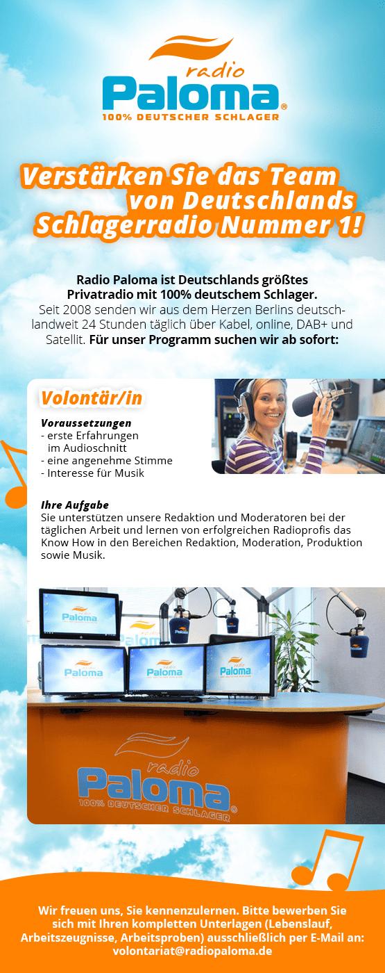 Radio Paloma sucht Volontär/in
