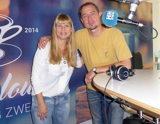 TOP1000-Co-Moderatorin Nicole Rautenberg und Hamburg-Zwei-Moderator Didi (BIld: ©HAMBURG ZWEI)