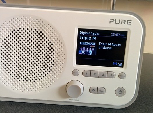 Auf TripleM eingestelltes Digitalradio (Bild: ©James Cridland)