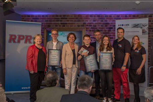 v.l.n.r.: Renate Pepper, Valentin Lahr, MP Malu Dreyer, Florian Bambauer, Kristian Kropp, Melissa Bastian, Kunze und Ina