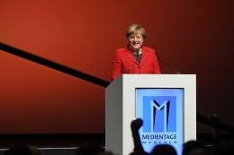 Bundeskanzlerin Dr. Angela Merkel bei der Eröffnungsrede der Medientage (Bild: Medientage)