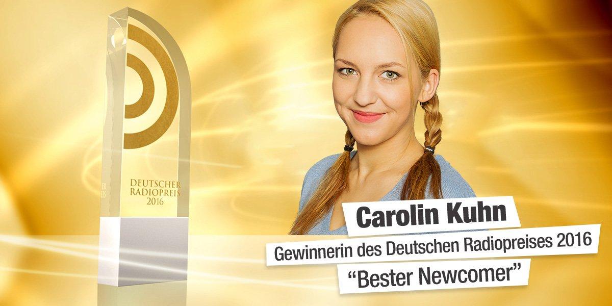 Carolin Kuhn von 105'5 Spreeradio gewinnt den Deutschen Radiopreis 2016