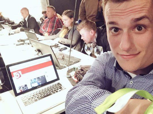 Hendrik Frost twitterte live vom #DRP16