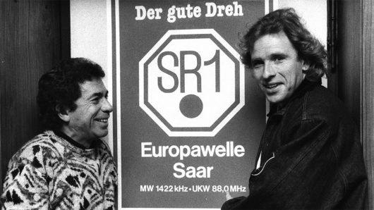 Manfred Sexaue und Thomas Gottschalk bei SR1 (Bild: ©Julius Schmidt)