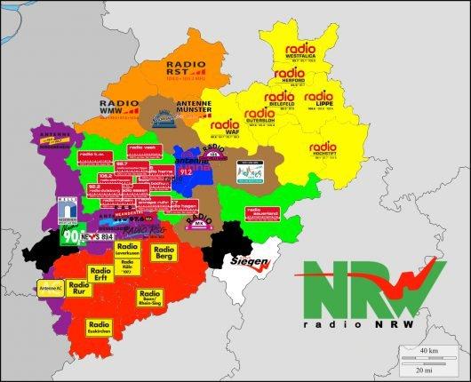 Die 45 NRW-Lokalradios und ihre Servicegesellschaften (Grafik: Christopher Deppe)
