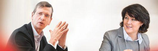Guillaume de Posch und Anke Schäferkordt, Co-CEOs der RTL Group