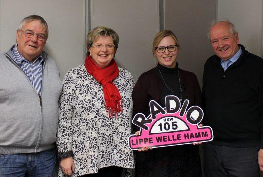 Die Veranstaltergemeinschaft von Radio Lippe Welle Hamm mit Chefredakteurin Colleen Sanders