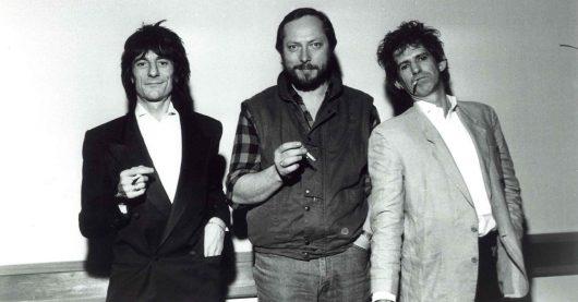 Heinz Canibol mit Ron Wood und Keith Richards (Bild: Privatarchiv)