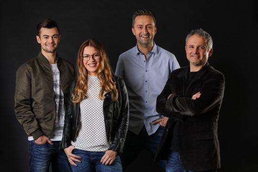 Der neue Morgen bei Life Radio: Philipp Bergsmann, Steffi Sperr, Wolfgang Haimel und Walter Schwung