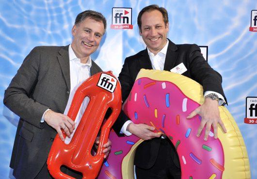 Carsten Neitzel, Geschäftsführer NDR Media; Patrick Bernstein, Geschäftsführer Radio Hamburg