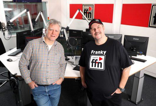 ffn Studio Dirk Oppermann und ffn-Morgenmän Franky (Bild: ©ffn)