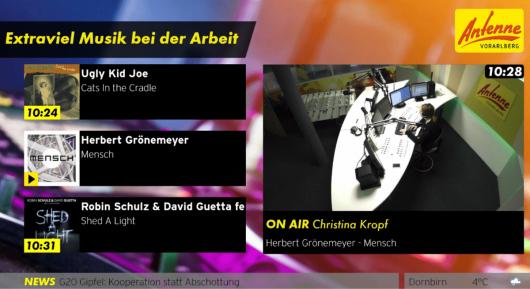Visual Radio: Hier wird die Morningshow live via Homepage übertragen. (Bild: @Antenne Vorarlberg)