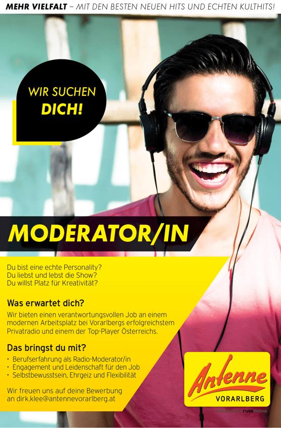 Antenne Vorarlberg sucht Moderator/in