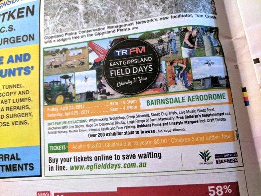 TRFM East Gippsland Field Days