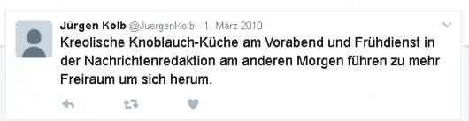 Jürgen Kolb twittert
