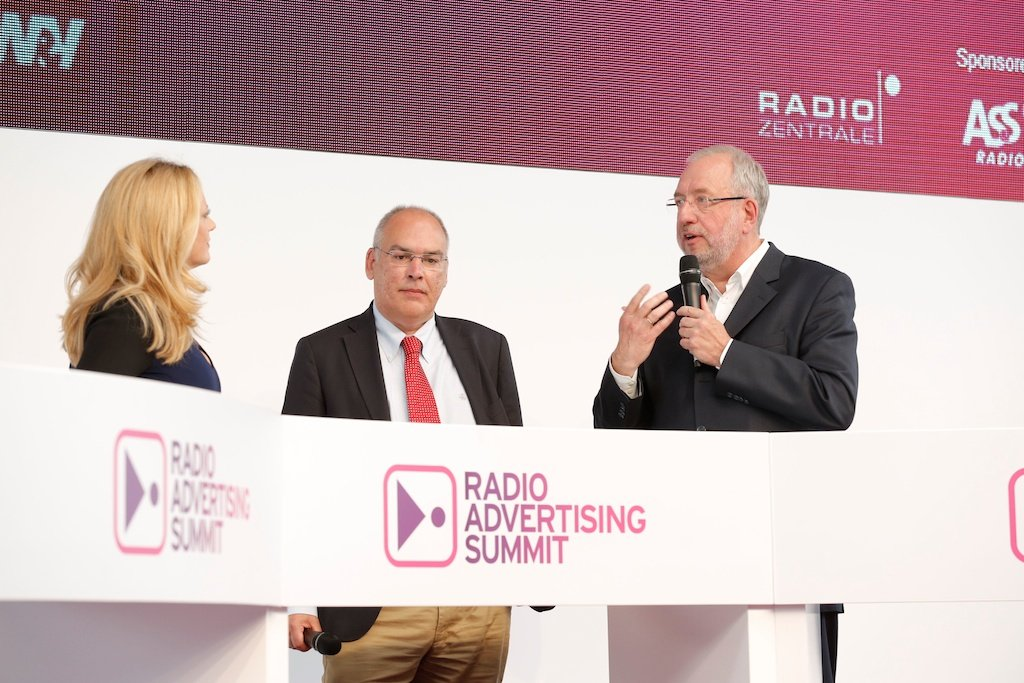 Barbara Schöneberger, Gerold Hug (SWR), Hans-Dieter Hillmoth (HIT-RADIO FFH)