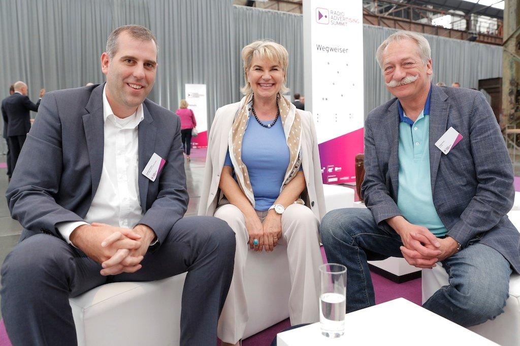 Stephan Schmitter (RTL Radio Center Berlin), Elke Schneiderbanger (ARD-Werbung), Thomas Koch (tk-one)
