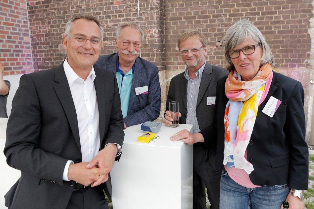 Florian Ruckert (RMS), Thomas Koch (TK one), Karl-Heinz Roth (media-move), Christiane Niehaus (DEVK)