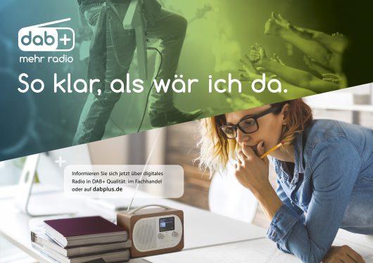 """ARD/MDR - DAB+ Kampagnenmotiv 2017 DAB+ Kampagnenmotiv 2017 © ARD/MDR, honorarfrei - Verwendung gemäß der AGB im Rahmen einer engen, unternehmensbezogenen Berichterstattung im MDR-Zusammenhang bei Nennung """"Bild: ARD/MDR"""" (S2+), MDR/HA Kommunikation, 04360 Leipzig, Tel: (0341) 300 6477 oder - 6463"""