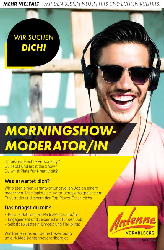 ANTENNE VORARLBERG sucht Morningshow-Moderator/in