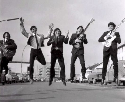 Roger Hook, Casey Jones, Pete Richards, Jim Redford, Dave Colman. Studio B. 1965 in Hamburg (Bild: ©NDR)