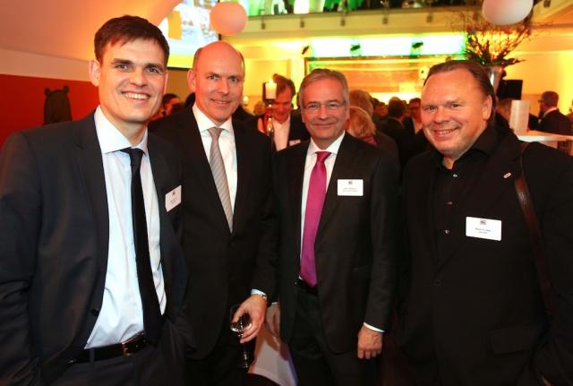 Dirk van Loh (REGIOCAST), Harald Gehrung (ffn), Ulrich Gathmann (NWZ Funk und Fernsehen) , Mario Liese (Radio SAW)