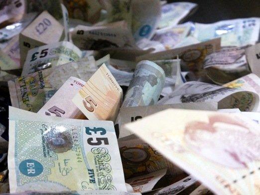 Bargeldspenden im Britischen Museum (Foto: James Cridland)