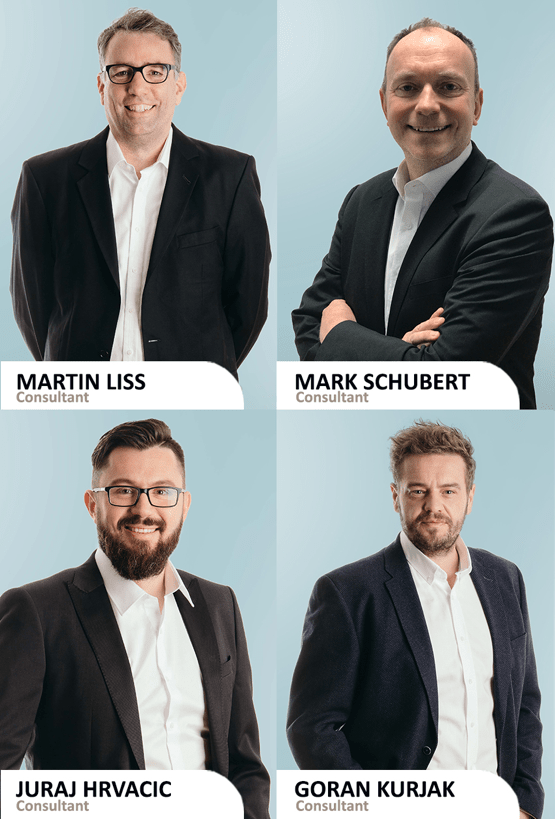 Neue bci-Berater Martin Liss, Mark Schubert, Juraj Hrvacic, Goran Kurjak (Bild: ©BCI)