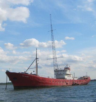 """Radio Caroline-Schiff """"Ross Revenge"""" (Bild: ©Radio Caroline)"""