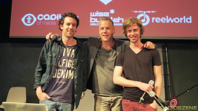 Chris Hartgers (Radio 538 NL), Anthony Timmers (THE IMAGING DAYS), Niels Franken (Radio 538 NL)