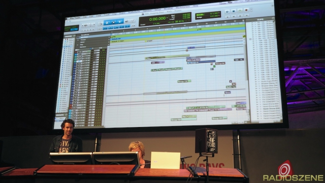 Chris Hartgers, Niels Franken mit Pro Tools-Session