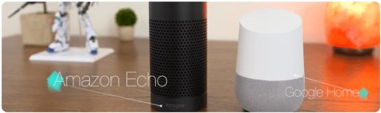 Intelligente Lautsprecher Amazon Echo und Google Home
