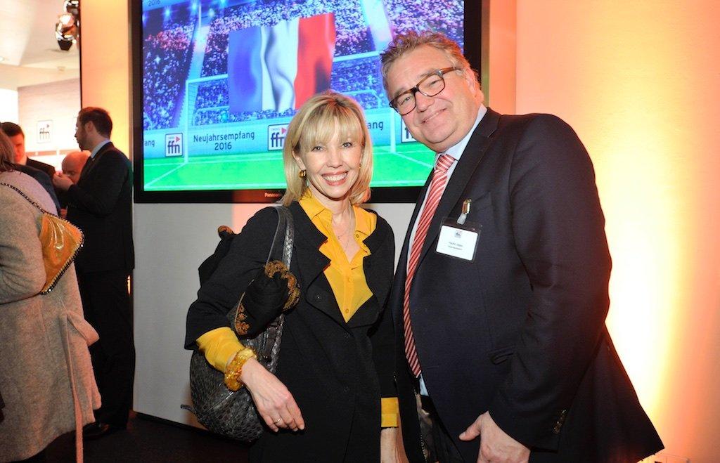 ffn-Neujahrsempfang Doris Schröder-Köpf, Regionspräsident Hauke Jagau