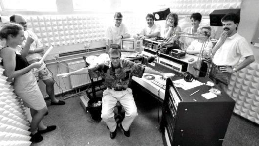 Das alte Radio PSR-Studio im Jahre 1992 (Bild: ©PSR)