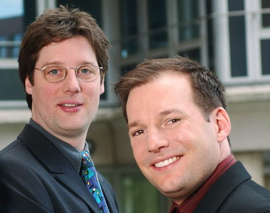 MusicTrace-Geschäftsführer Ralph Kulessa und Frank Siebenhaar (Bild: ©Stefan Pielow)
