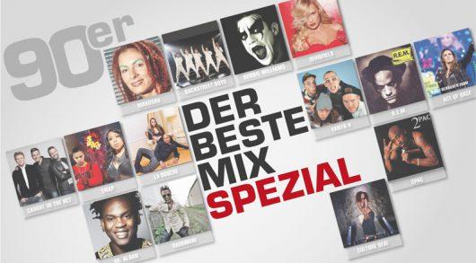 Der beste Mix Spezial - die 90er am 05. August (Bild: NRW Lokalradios)