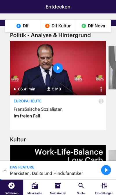Dlf Audiothek (Bild: Screenshot)