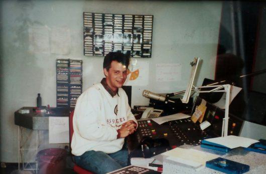 Jürgen Frahne im Studio von Stadtradio Heilbronn September 1989 (Bild: Jürgen Frahne)