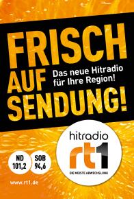 HITRADIO RT1 sendet ab 1. Oktober für den Landkreis Neuburg-Schrobenhausen