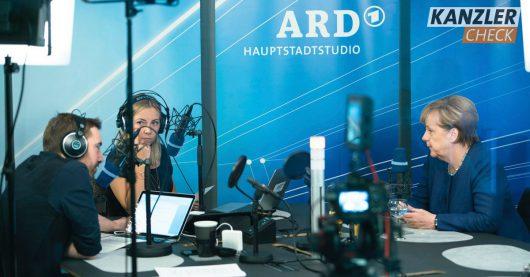 Kanzlercheck mit Angela Merkel (Bild: @MDR / Joachim_Blobel)
