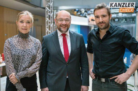 Kanzlercheck mit Schulz (Bild: MDR/Joachim Blobel)