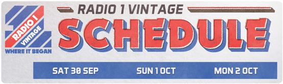 Radio1 Vintage-Schedule