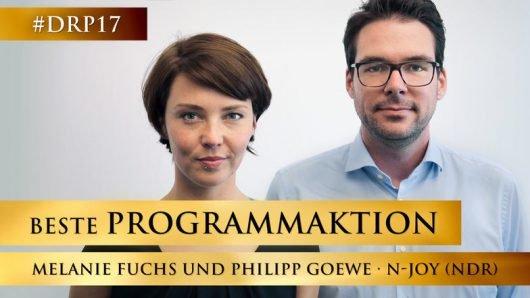 Melanie Fuchs und Philipp Goewe (Bild Deutscher Radiopreis)